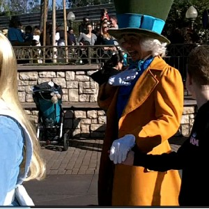 Taking a stroll with Alice and the Mad Hatter