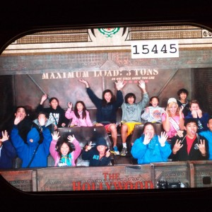 Miss Colorado riding the Hollywood Tower of Terror in California Adventure!