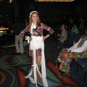 Jr. Teen Lauren Schwartzberg modeling toilet paper! :)