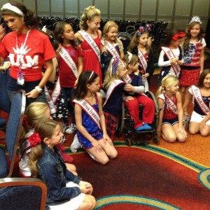 Queens and team character girls at patriotic day