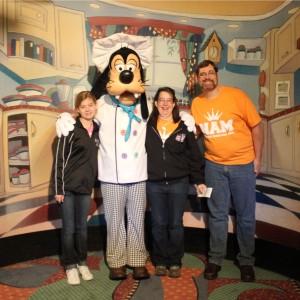 Rachel Marx (preteen, Team Leadership) enjoyed breakfast at Goofy's Kitchen