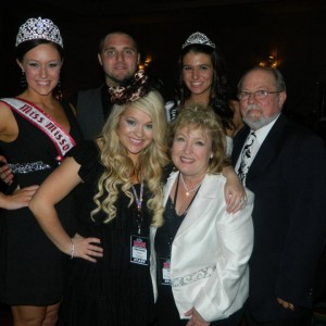 Miss Missouri Teen and Miss Manchester Teen with their State Directors