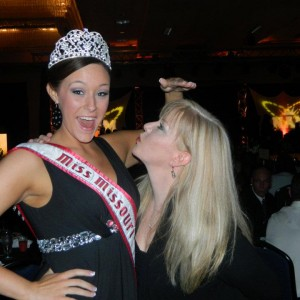 Miss Missouri Teen and her Mom being silly at the Thanksgiving Dinner