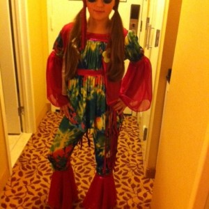 Ariana Muehlenbein dressed up for the 70's theme party!