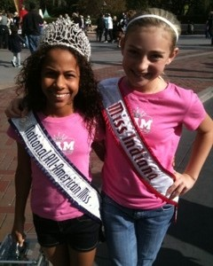 Miss Indiana with the reigning All-American Preteen