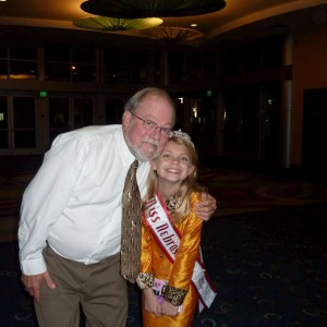 Ken Maples and Miss Nebraska JR Pre Teen, Angel