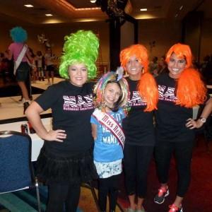 Miss Nebraska Angel Strong at Crazy Hair Rehearsal with Choreographers