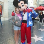 with Mickey in Hollywood