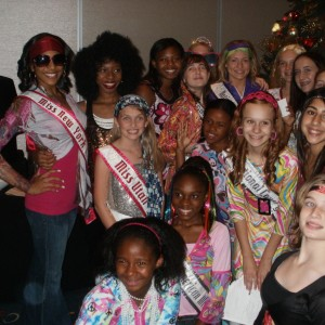 Miss Utah Preteen Rachel Wright and other Preteens at 70's party