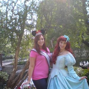 Katie of Team Achievement Miss Division with Ariel