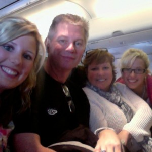 On the Plane from Minnesota to California!!