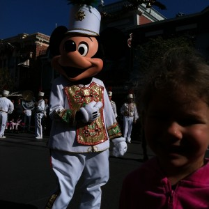 princess Corinne with Mickey Mouse