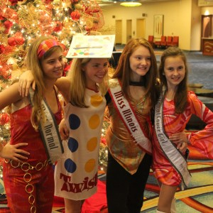 Rachel Marx (preteen, Leadership) with NAM friends Alexandria, Cassidy, and Kathryn