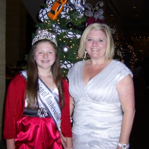 Mom and Abby after the banquet