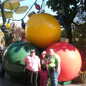 Team Character! Mari Turpen and family at the Bug's Life Christmas