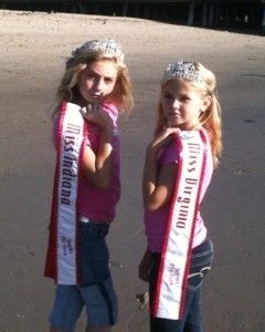 Miss Virginia and Miss Indiana making memories at the beach!  Friends for life!