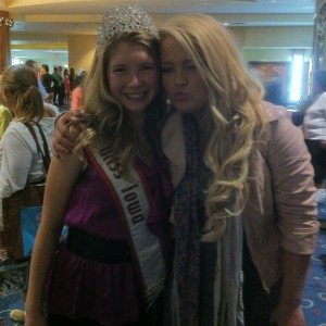 Merrill Diddy - Miss Iowa Preteen with her State Director Breanne Maples