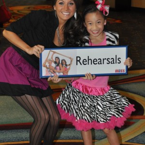 Miss Florida with choreographer Whitney Fricke