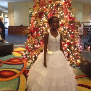 Tiana with Christmas Decor!