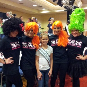Crazy hair for team confidence with the Choreographers