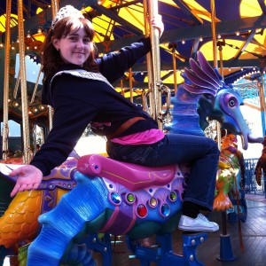 Pre-Teen Kyra Walters on King Triton's Carousel