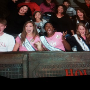 Victoria Newlove, pre teen, with Kirrah at  Tower of Terror
