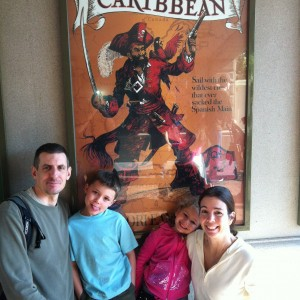 Princess Cori and family headed for the Pirates of the Caribbean!