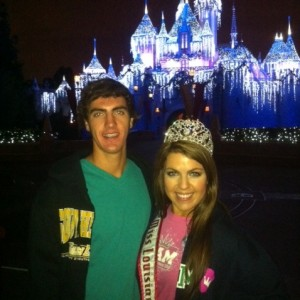 Miss Louisiana and her brother at Disneyland