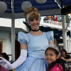 Posing with Cinderella
