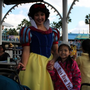 Miss New York with Snow White
