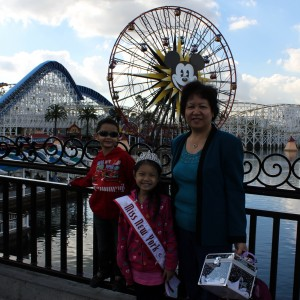 K-La Wong at Disney with her family