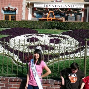 National American Miss Cover Miss Megan Viola-Vu Team Character Miss Division at Disneyland