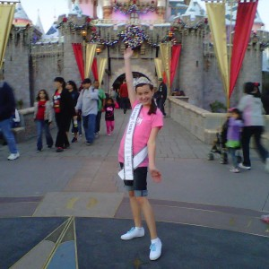 So CA Pre-teen Danielle Deweese at Disneyland Castle