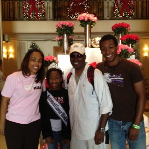 Tiana McGee with her family