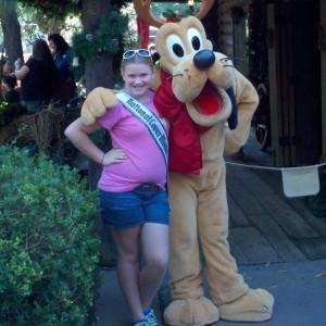 Posing with Pluto!
