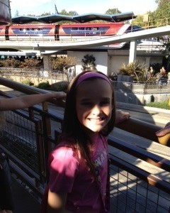 Snapping pictures in front of the Monorail