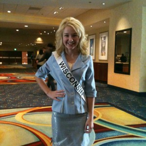 Miss WI Pre-teen, Brittany Georgia, after personal introduction