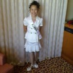 Miss Iowa princess Tanae Thiravong in her interview suit before personal introduction