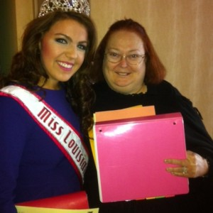 Victoria Tramell with her state director Patti Schneider