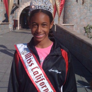 Miss California - Jada Newkirk at Disneyland