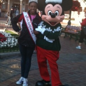 Miss California with Mickey Mouse