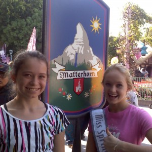 Miss Springfield & her sister at the Matterhorn!