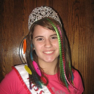 Olivia Mercer, Miss Wyoming Pre-Teen, with her version of Crazy Hair!!!