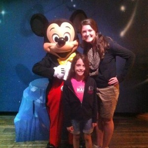 Margaret Lareau and Courtney with Mickey!