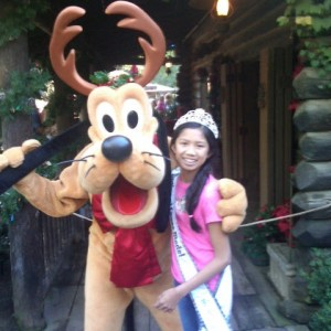 Preteen NJ Cianna Winkler with Pluto