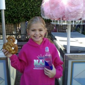 Miss Virginia sporting NAM apparel @ Disneyland