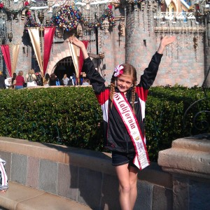 Miss California at Disneyland