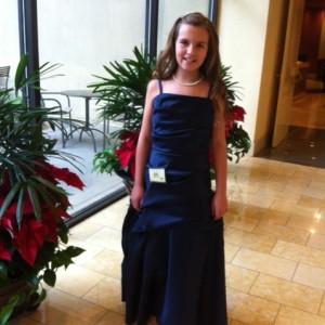Ariana Muehlenbein posing in her Formal Wear
