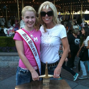 Although magical at Disneyland.... Miss WI Preteen, Brittany Georgia, & her mom were not able to pull the sword from the stone.