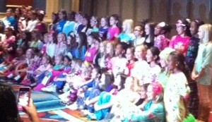 Preteen PJ Rehearsal- posing for picture